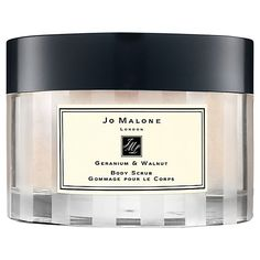 Our 7 favorite beauty splurges: Jo Malone Geranium Walnut Body Scrub: So gentle, you can use it on your face too.
