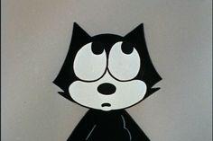 Old Cartoons, Classic Cartoons, Black And White Cartoon, Cat Icon, Knight Art, Felix The Cats, Animated Icons, Cat Aesthetic, Cartoon Memes