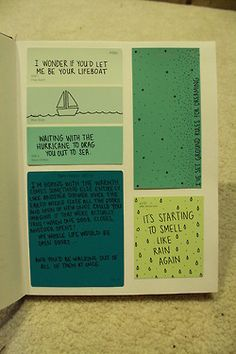 paint chip book. I would love to do this with quotes