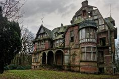 Abandoned beauty- I think this used to be part of an asylum but I can't find too much more information on it.