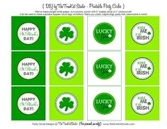 {Free Printables} It's Your LUCKY Day ~ Cute Printable St. Patrick's Day Party Circles!   The TomKat Studio