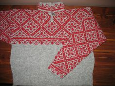 Ravelry: Genser pattern by Rauma Designs Knitting Stitches, Hand Knitting, Norwegian Knitting, Tapestry Weaving, Embroidery Patterns, Knitwear, Knit Scarves, Knit Sweaters, Cardigans