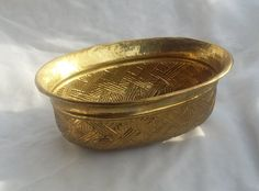 Hammered Brass Container Planter Pot by TymelessTrinkets on Etsy