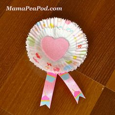 Mama Pea Pod: {Pink and Red Heart Party: Cupcake Liner Rosettes}
