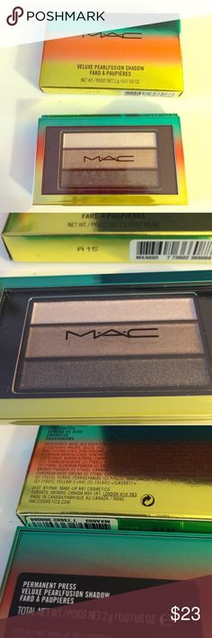 MAC Wash & Dry - Permanent Press Eyeshadow Trio Brand new in box. Never used or swatched. Authentic. No trades! MAC Cosmetics Makeup Eyeshadow