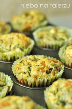 niebo na talerzu: Muffiny ze szpinakiem i feta- przystawka na imprezę