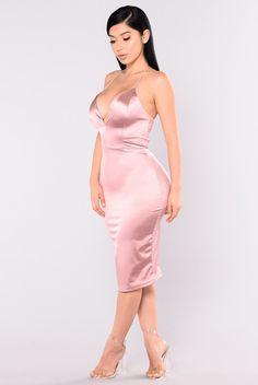 KoKo Satin Dress - Mauve
