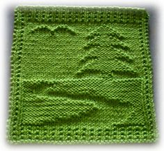 Ravelry: My Earth Cloth pattern by Alli Barrett Knitted Squares Pattern, Knitted Dishcloth Patterns Free, Knitting Squares, Knitted Washcloths, Crochet Dishcloths, Knitted Blankets, Loom Knitting, Knitting Stitches, Knit Patterns