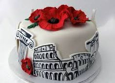 cake with icing coliseum - Google Search