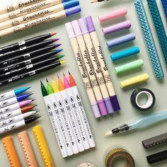 "6,209 Likes, 57 Comments - - ̗̀ danny   boystudy ̖́- (@boy.study) on Instagram: ""[21/04/17] BRUSH PEN HEAVEN  who knew I could need so many pens lmao  I feel like I'm turning…"""