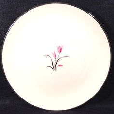 Franciscan CARMEL Lot of 5  Bread N Butter Plates  Dinnerware Pink Gray Flowers Center Platinum Trim Excellent Condition by libertyhallgirl on Etsy $29.99 for 5