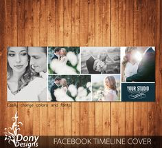 Wedding Facebook timeline cover template photo collage - Photoshop Template Instant Download - BUY 1 GET 1 FREE: fc359 by DonyDesigns on Etsy