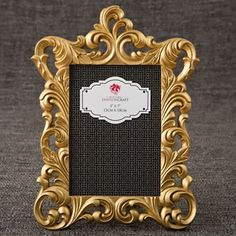 Gold Metallic baroque frame from gifts by fashioncraft Gold + Metallic + Barock + Rahmen + + aus + Geschenken + von + Fashioncraft The post Goldmetallischer Barockrahmen von gifts by fashioncraft appeared first on Tiffany Bacote. Wedding Picture Frames, Picture Frame Sets, Photo Picture Frames, Wedding Frames, Framed Table Numbers, Wedding Favors Unlimited, Baroque Design, Photo Packages, Baroque Fashion
