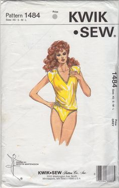 Kwik Sew 1484 1980s Misses Panties and V Neck Camisole womens vintage sewing pattern  by mbchills
