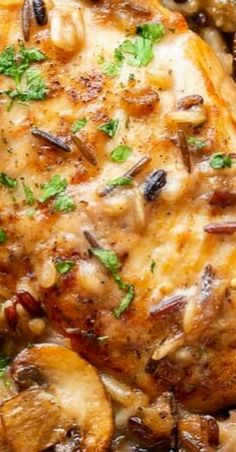 Chicken Wild Rice Casserole - Saving Room for Dessert Chicken Wild Rice Casserole, Chicken And Wild Rice, Casserole Dishes, Casserole Recipes, Chicken Rice, Turkey Recipes, Chicken Recipes, Dinner Recipes, Seafood Recipes