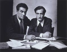 Edgar Varèse and Antonin Artaud, Paris, 1933 -by Rogi André