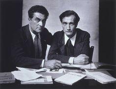 Edgar Varèse and Antonin Artaud, Paris, 1933 -by Rogi André