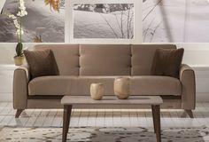 Μοναδικός τριθέσιος καναπές  σε ποικιλία χρωμάτων.Διαθέτει αποθηκευτικό χώρο και μετατρέπεται εύκολα σε κρεβάτι με μία κίνηση χάρη στον καινοτόμο μηχανισμό Zero Wall που εξασφαλίζει ότι η πλάτη του καναπέ κατά τη μετατροπή δεν ακουμπά στον τοίχο.