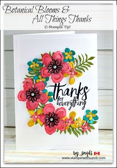 Botanical Blooms for Autism card by Sandi @ www.stampinwithsandi.com