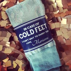 Custom Cold Feet Socks Label for Groom or by RelaxEventStudio
