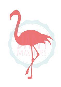 Flamingo, molde para quadro