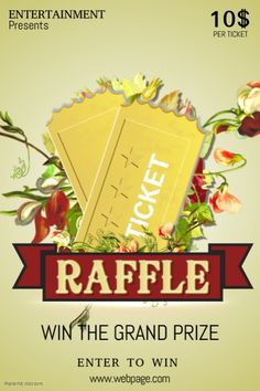 Raffle Giveaway Ticket Poster Flyer Template Free Poster Templates