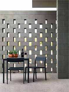 Let's discuss about a cinder block. Cinder block is a rectangular block used as building construction. Besides that, a cinder … Breeze Block Wall, Cinder Block Walls, Cinder Blocks, Cinder Block Ideas, Cinder Block House, Cinder Block Garden, Brick Block, Beton Design, Privacy Walls