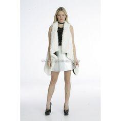 Γιλέκο γούνινο μακρύ fashion-colors.gr