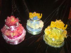 "Three tier Baby Shower ""Pink"" cake Centerpiece #design #handmadeholiday"