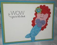 Mermaid 1 Stampin' Up! Punch Art