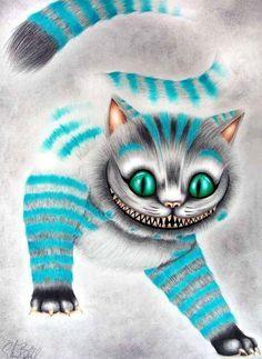 Alice in Wonderland's Cheshire Cat via www.Facebook.com/DisneylandForMisfits