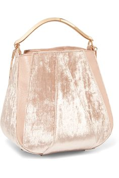 0954878116c0 Eddie Borgo - Pepper velvet and leather bucket bag