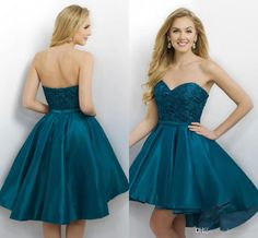 2017 New Teal Silver Homecoming Dresses Sweetheart Lace Appliques Sashes Ball Gown Short High Low Length Taffeta Cocktail Dress Party Gowns Teal Homecoming Dress 2017 Homecoming Dresses Short Party Dress Online with 111.43/Piece on Haiyan4419's Store   DHgate.com