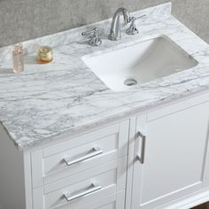 Bathroom Vanities With Sinks Included. Ace 42 Inch Single Sink White Bathroom Vanity With Mirror