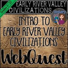 This internet based lesson provides an overview of the Early River Valley Civilizations (Tigris/Euphrates, Nile, Indus, Huang He/Yangtze). The handout guides students through seven quality internet sites. It works well for an in-class or out of class assignment. When students finish, they may complete an extension project too. This is a great activity to leave for a sub tub in your Ancient or World History class. (7th, 8th, 9th, 10th, 11th, or 12th grade classroom or home school students)