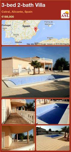3-bed 2-bath Villa in Catral, Alicante, Spain ►€188,000 #PropertyForSaleInSpain