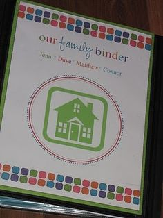 Family Binder Templates