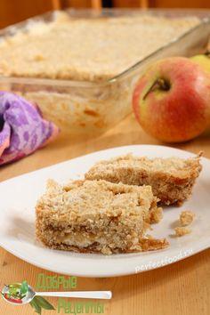 Насыпной яблочный пирог - рецепт с фото и видео