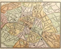 Eazywallz  - 1889 Map of Paris Wall Mural, $112.49 (http://www.eazywallz.com/1889-map-of-paris-wall-mural/)