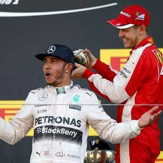 "Lewis Hamilton on Instagram: ""One of my favourite parts on the podium! Hahah #LewisHamilton #TeamLH #MercedesAMGf1 #F1 #JapaneseGP #Suzuka #Race"""