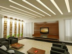 Having a well lit #livingroomdesign can be just achieved with the jaw dropping false ceiling..!!