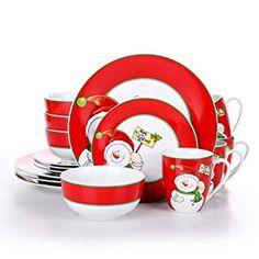 4 Platos y 4 Platos de Postre para 4 Personas VEWEET Hannah 20 Piezas Vajillas de Porcelana Juegos con 4 Hueveras 4 Tazas Mugs 350 ml 4 Cuencos de Cereales