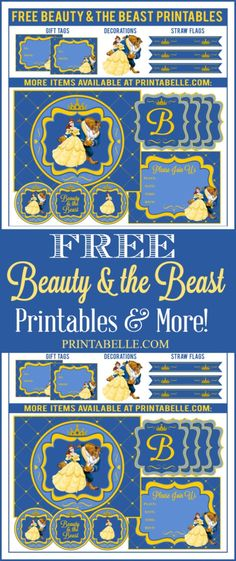 & the Beast Party Printables Free Beauty & the Beast Printables and more! – Free Party Printables and more!Free Beauty & the Beast Printables and more! – Free Party Printables and more! Beauty And Beast Birthday, Beauty And The Beast Theme, Beauty Beast, Diy Beauty And The Beast Decorations, Beauty And The Beast Crafts, Disney Princess Party, Princess Belle, Princess Birthday, Oh My Fiesta