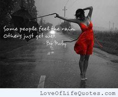 Bob Marley quote on rain