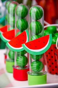Magali or Watermelon Decoration: Over 50 Ideas - Magali or Watermelon Decoration: Over 50 Ideas – Inspire Your Party ® - Watermelon Birthday Parties, Fruit Party, 1st Birthday Parties, Flamingo Party, Happy Birthday B, Watermelon Decor, Moana Party, Party Decoration, Baby Party