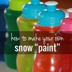 How To Make Colorful Paint For Snow