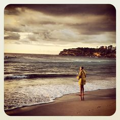 Serene. Solitary. Bondi #fishing #atbondi #bondi #beach #shore #solitary #serenity #fisherman #sydney #australia