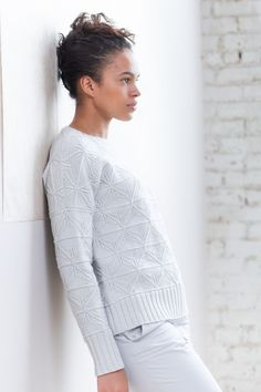 Foldlines by Norah Gaughan, pattern available on Ravelry. Pullover Shirt, Pullover Sweaters, Knit Sweaters, Cardigans, Brooklyn Tweed, Work Flats, Knitting Patterns, Sweater Patterns, Knitting Projects