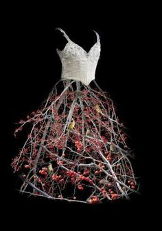 Untitled (Berry Dress), 2009 by Todd Murphy Floral Fashion, Fashion Art, Fashion Design, Mannequin Art, Textiles, Sculptural Fashion, Flower Dresses, Mannequins, Costume Design