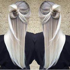 cabello platinado, mechas balayage